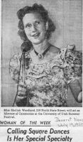 1950 Deseret News article about Shelah as square dance caller