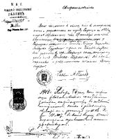 Simon Horwitz Russian Travel Document