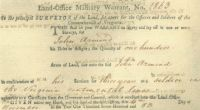 Land Office Military Warrant No. 1863, John Armond, 100 A, 6 Nov 1783.