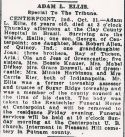 Adam Larry Ellis (1875-1941), Obituary