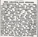 Amanda Jane Lowe (1868-1952), Obituary