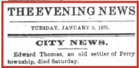 Edward Charles Thomas (1815-1875) Death notice