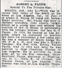Albert G. Payne (1855-1939), Obituary