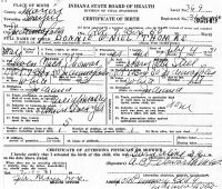 Donnie O'Niel [sic] Thomas (1931- ) Birth certificate