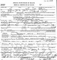 Omer Thomas (1891-1973) Death certificate