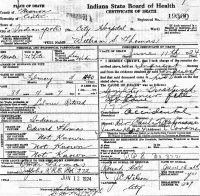 William S. Thomas (1841-1924) Death certificate