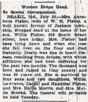 Ann Belle Lowdermilk (1846-1912), Obituary