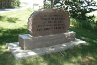 2 Oak Grove Cemetery - Back of Sign at Entrance