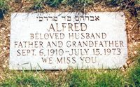Alfred Brussell Tombstone - Hebrew says Abraham son of Morduchi
