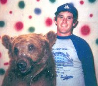 Seve Howard and Vargas Circus Bear. Steve had the nickname of – Bear - from his Burger King days.