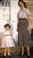Carol Jean Wehrwein Thomas and daughter, Susan Rebecca Thomas in 1954