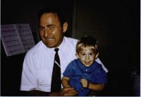 Harry Henry Howard and his grandson- Steven Scott Howard- about 1970- at Los Angeles- California- near USC