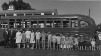 Harry Howard family and bus in Salt Lake City.