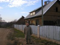 Dave Howard on Barona Street, Rezekne, Latvia in Octoer 2003