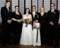 John Beckley - Diane Stojentin - Kara Stojentin - Adam Stojentin - Kira Beckley - Susan Richter-Beckley and Ray Beckley at wedding