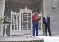 Family Friend, Andy, adds Native America blessing and Peter Mayland gives a Jewish blessing