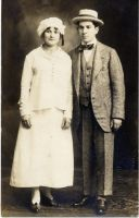 Morris and Molly Horwitz standing