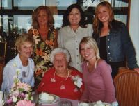 Four Generations: Glenna and Gayle, granddaughters and great-granddaughters