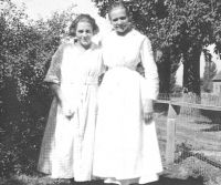 Hilma Adamson Wight and daughter Marteal