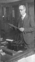 Edwin Penrose at the Deseret News and his typewriter